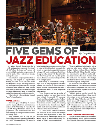 Downbeat article in Oct 2018 issue