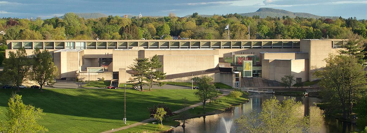 Fine Arts Center taken from Du Bois Library