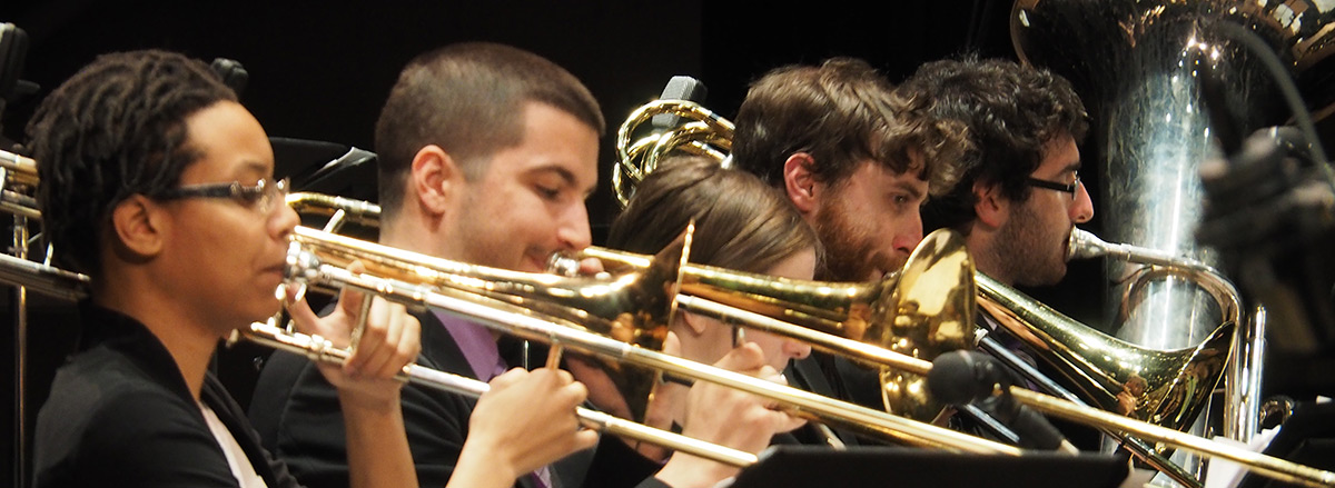 Jazz trombone ensemble