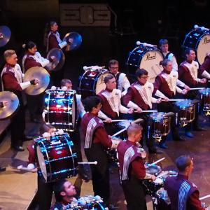 Minuteman Marching Band Percussion Line