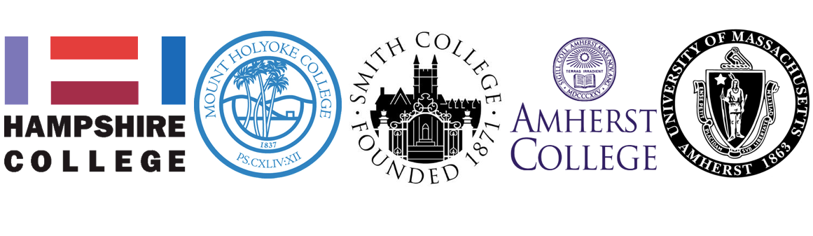 The logos of all of the five colleges
