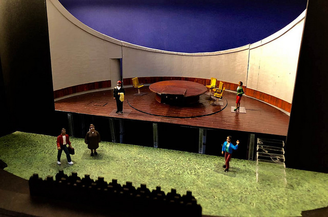 student small model of stage set